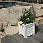 Mayne Lakeland 16-Inch x 16-Inch Planter in White