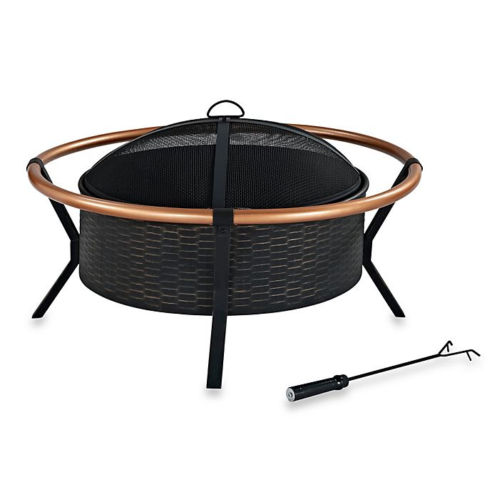 Alternate image 1 for Crosley Yuma Copper Ring Wood Burning Fire Pit in Copper