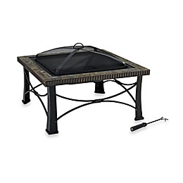 Crosley Firestone Square Slate Fire Pit in Black