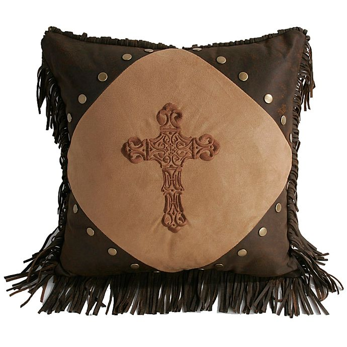 Surprising Hiend Accents Embroidered Cross Faux Suede Throw Pillow In Andrewgaddart Wooden Chair Designs For Living Room Andrewgaddartcom