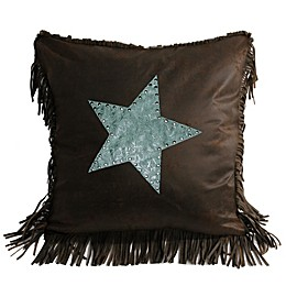 HiEnd Accents Cheyenne Star Throw Pillow in Turquoise