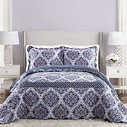 Vera Bradley® Regal Rosette King Reversible Bedspread in Purple