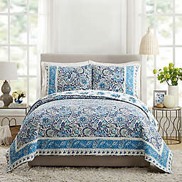 Dena Home Bisou Floral 3-Piece Quilt Set