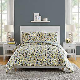 Vera Bradley® Sunny Garden 3-Piece Reversible Comforter Set in Yellow