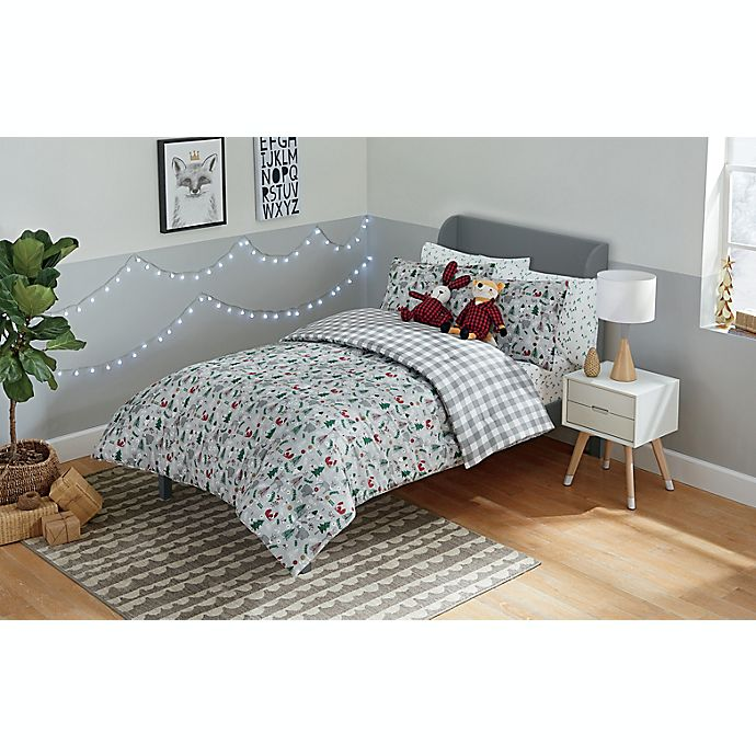 Alternate image 1 for Marmalade™ Winter Forest Reversible Comforter Set in Grey