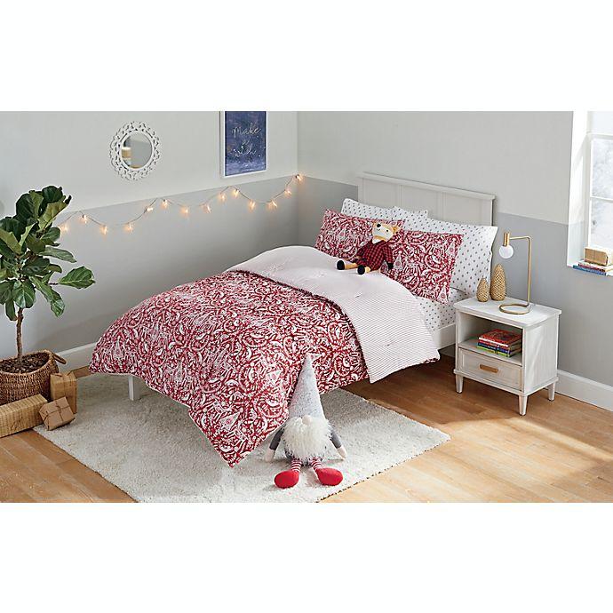 Alternate image 1 for Marmalade™ Scandinavian Reversible Comforter Set in Red/White