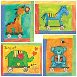 12-Inch x 12-Inch Motif Toy Animals Wall Art