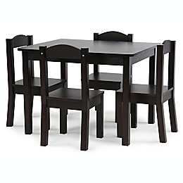 Humble Crew 5-Piece Table and Chairs Set in Espresso