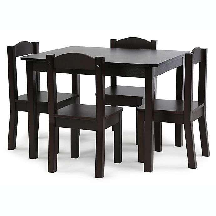 Alternate image 1 for Humble Crew 5-Piece Table and Chairs Set in Espresso