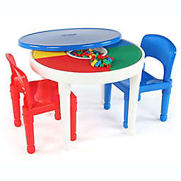 Tot Tutors 2-In-1 LEGO®-Compatible Activity Table and Chairs Set