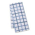 Kitchensmart® 18-Inch x 28-Inch Plaid Kitchen Towel in Lake