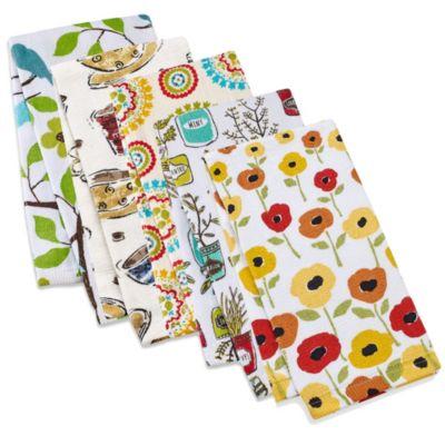 kitchensmart® print kitchen towel   bed bath and beyond canada