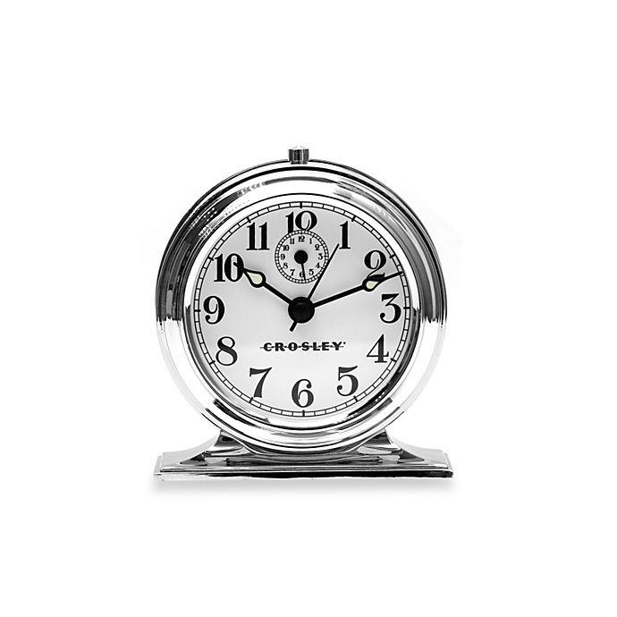 Crosley Vintage Metal Alarm Clock In