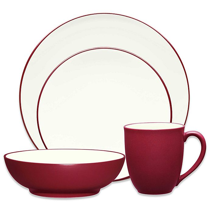 Alternate image 1 for Noritake® Colorwave Coupe 4-Piece Place Setting in Raspberry