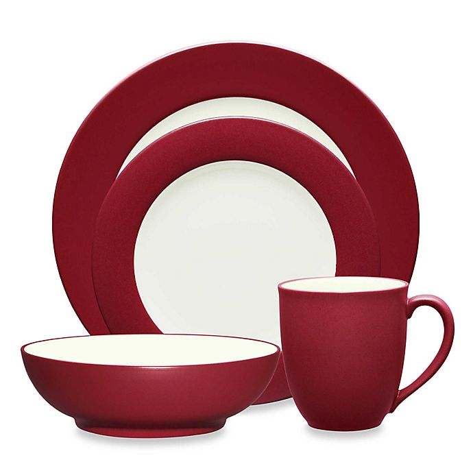 Alternate image 1 for Noritake® Colorwave Rim Dinnerware Collection in Raspberry