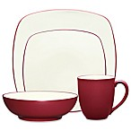 Noritake® Colorwave Square 4-Piece Place Setting in Raspberry