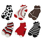 Capelli New York Size 12-24M 6-Pack Multi-Sports Socks