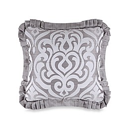 J. Queen New York™ Luxembourg Square Throw Pillow in Antique Silver