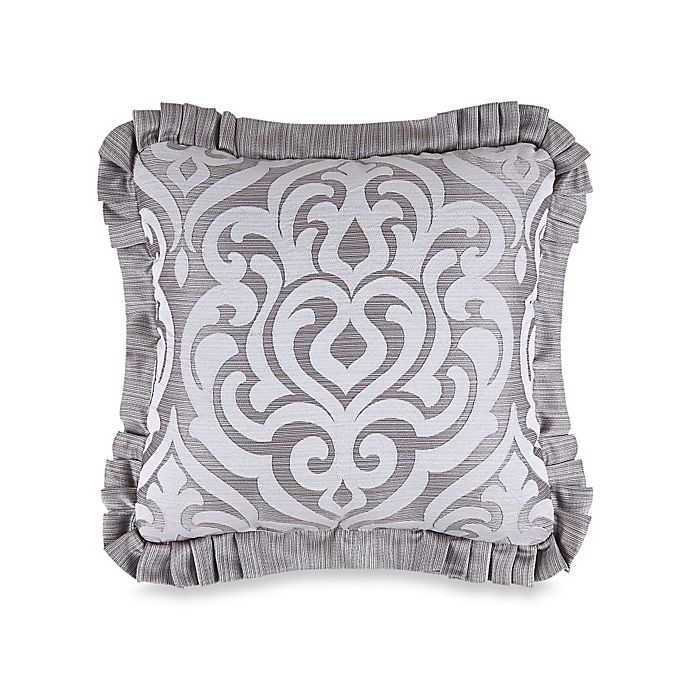 Alternate image 1 for J. Queen New York™ Luxembourg Square Throw Pillow in Antique Silver