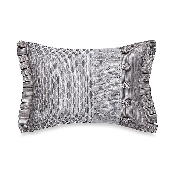 Alternate image 1 for J. Queen New York™ Luxembourg Boudoir Throw Pillow in Antique Silver