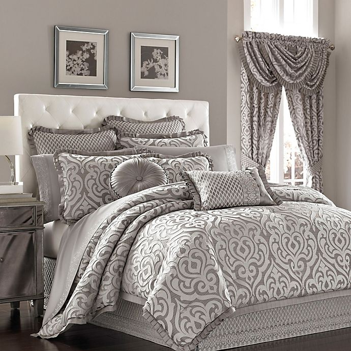 Alternate image 1 for J. Queen New York™ Luxembourg Comforter Set in Antique Silver