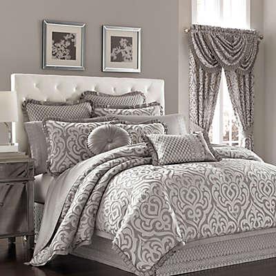 J Queen New York Luxembourg Comforter Set In Antique Silver