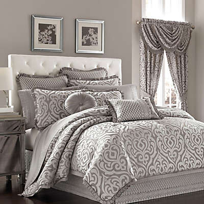 J. Queen New York™ Luxembourg Duvet Cover Set in Antique Silver