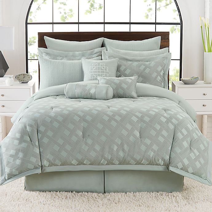 Satin Lattice Comforter Set