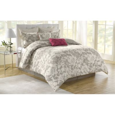 soho new york home peony 8 piece comforter set bed bath beyond. Black Bedroom Furniture Sets. Home Design Ideas