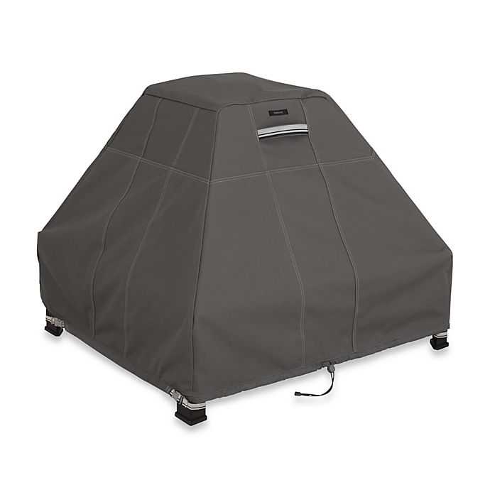 Alternate image 1 for Classic Accessories® Ravenna Fire Pit Stand-Up Cover in Dark Taupe