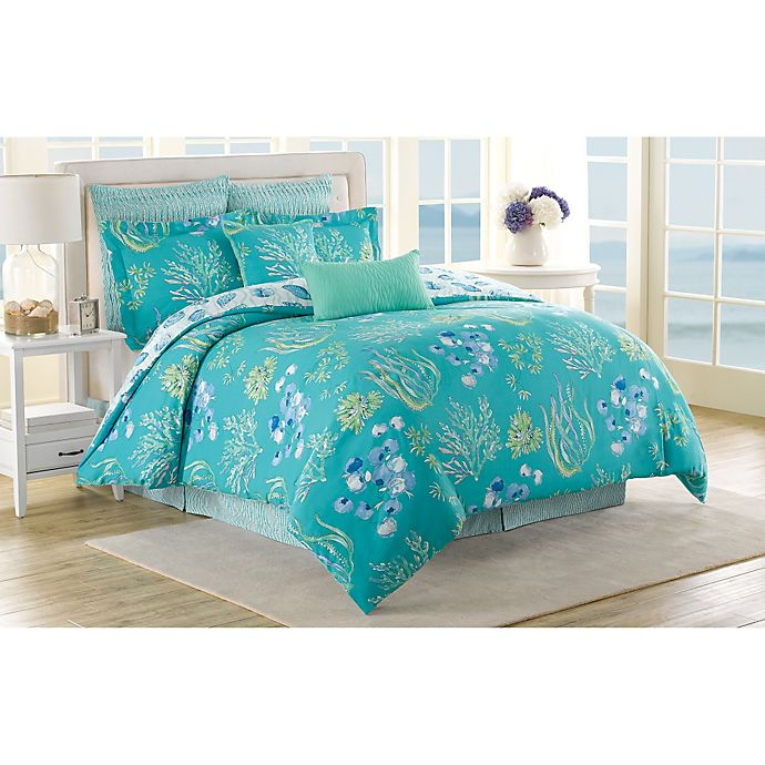 Alternate image 1 for Soho New York Home Beachcomber Reversible Queen Comforter Set