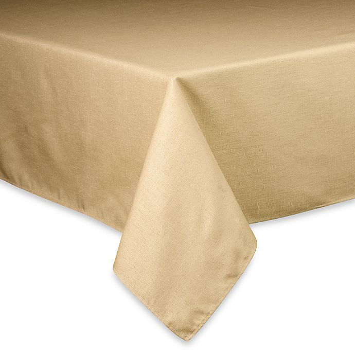 Alternate image 1 for Basketweave 60-Inch x 84-Inch Oval Tablecloth in Birch