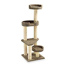 Family Cat Cat Tower with Sky Lookout and Lounger