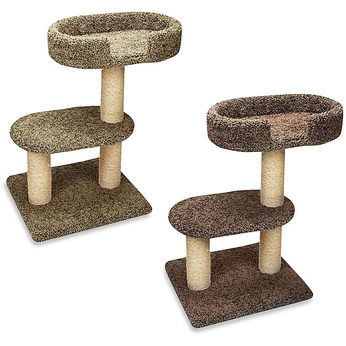 Alternate image 1 for Family Cat 2-Tier Tree with Lounger