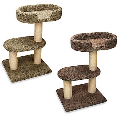 Family Cat 2-Tier Tree with Lounger