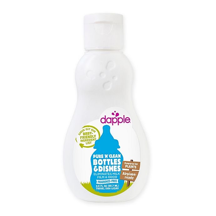 Alternate image 1 for dapple® 3 oz. Pure 'N' Clean Bottles and Dishes Dishwashing Liquid in Fragrance-Free