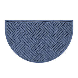 Weather Guard™  Diamonds 24-Inch x 39-Inch Half Oval Door Mat