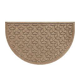 Weather Guard™  Ellipse 24-Inch x 39-Inch Half Oval Door Mat