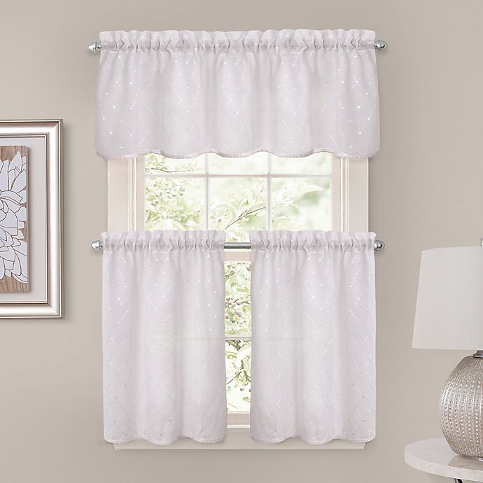 Alternate image 1 for Crystal Brook 24-Inch Window Curtain Tier Pair in White