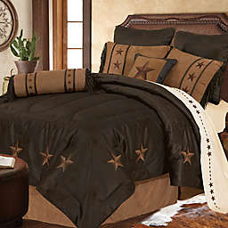 HiEnd Accents Laredo Comforter Set in Chocolate