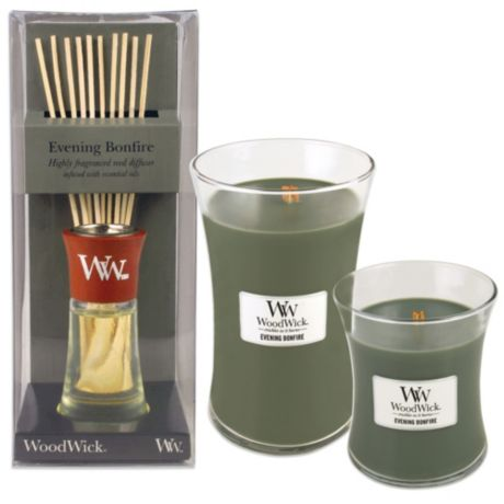 Woodwick 174 Evening Bonfire Candles And Reed Diffusers Bed