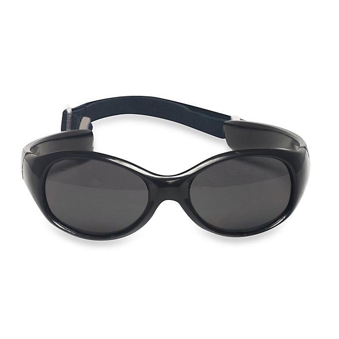 Alternate image 1 for UVeez Flex Fit Toddler Sunglasses in Black