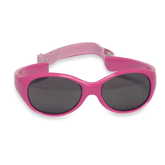 Alternate image 1 for UVeez Flex Fit Toddler Sunglasses in Hot Pink