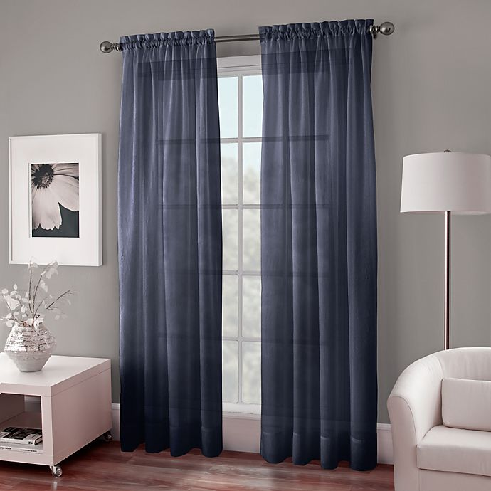 Alternate image 1 for Crushed Voile Sheer Rod Pocket Window Curtain Panel