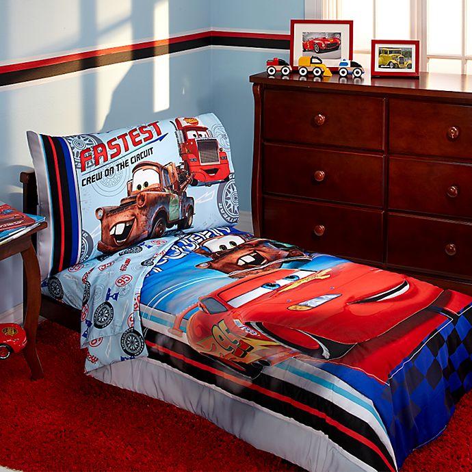 Alternate image 1 for Disney® Cars Fastest Team 4-Piece Toddler Bedding Set