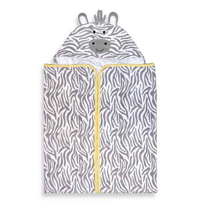 Alternate image 1 for Just Born® Welcome to the Circus Hooded Bath Wrap in Neutral