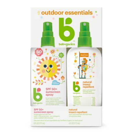 Babyganics® 2-Pack Mineral-Based Sunscreen Spray + Natural ...