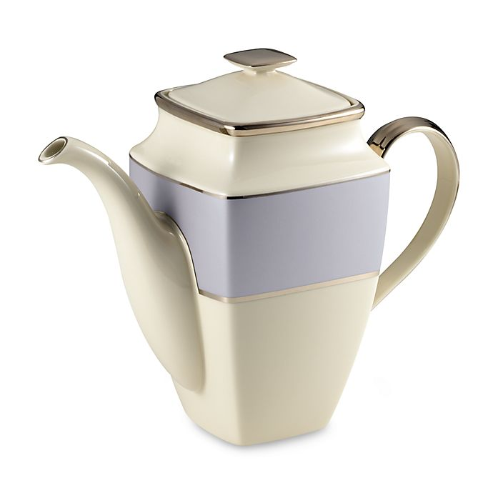 Alternate image 1 for Lenox® Blue Frost Square Coffeepot