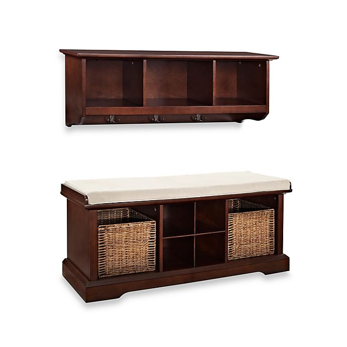 Alternate image 1 for Crosley Brennan 2-Piece Entryway Bench & Shelf Set
