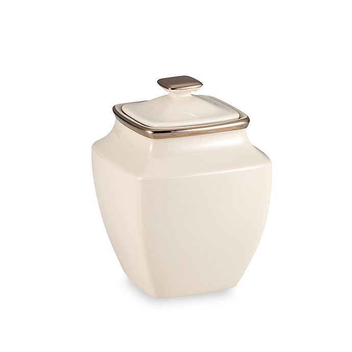 Alternate image 1 for Lenox® Solitaire® Square Covered Sugar Bowl